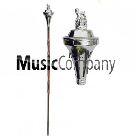 Flat Head Drum Major Mace Stick
