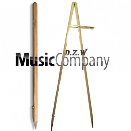 Light Oak/Medium Oak Pace Stick with Brass Fitting