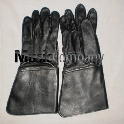 Black Leather Drum Majors Gauntlet Gloves