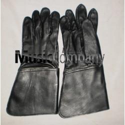 Black Leather Drum Majors Gauntlet Gloves