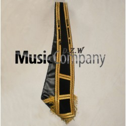 Black Blazer Drum Major Baldric Sash