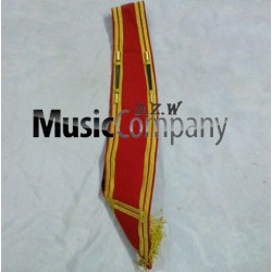 Red Blazer Drum Major Baldric Sash